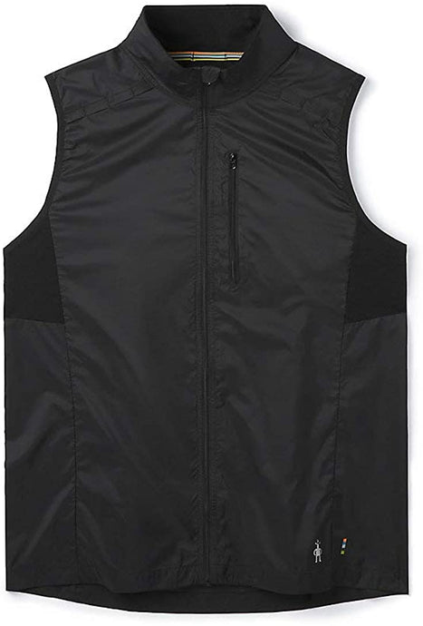 Men's Smartwool Merino Sport Ultra Light Vest in Black color from the front view