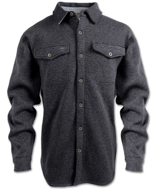 Staghorn Fleece Shirt in Charcoal color from the front view