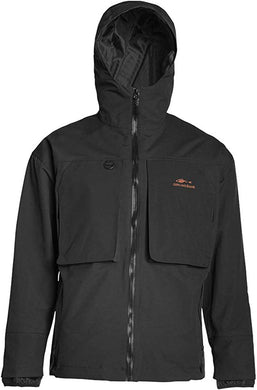 Storm Rider Jacket in Black color from the front view