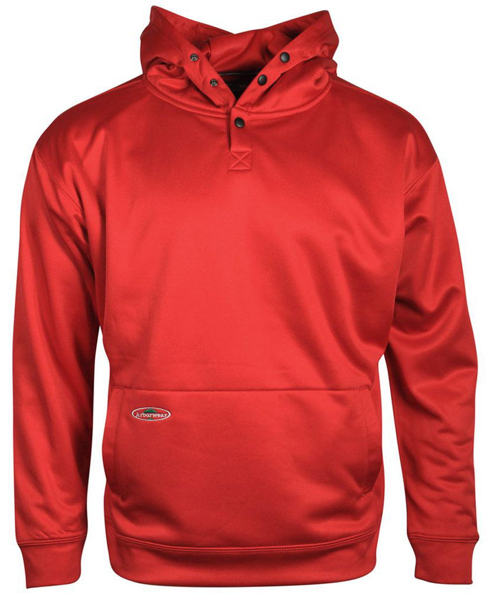 Tech Single Thick Pullover Sweatshirt in Cardinal Red color from the front view