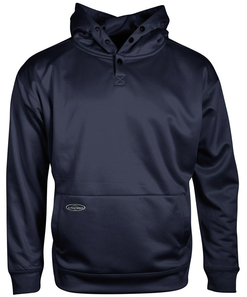 Tech Single Thick Pullover Sweatshirt in Navy color from the front view