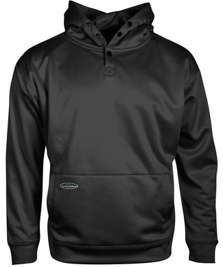 Tech Single Thick Pullover Sweatshirt in Black color from the front view