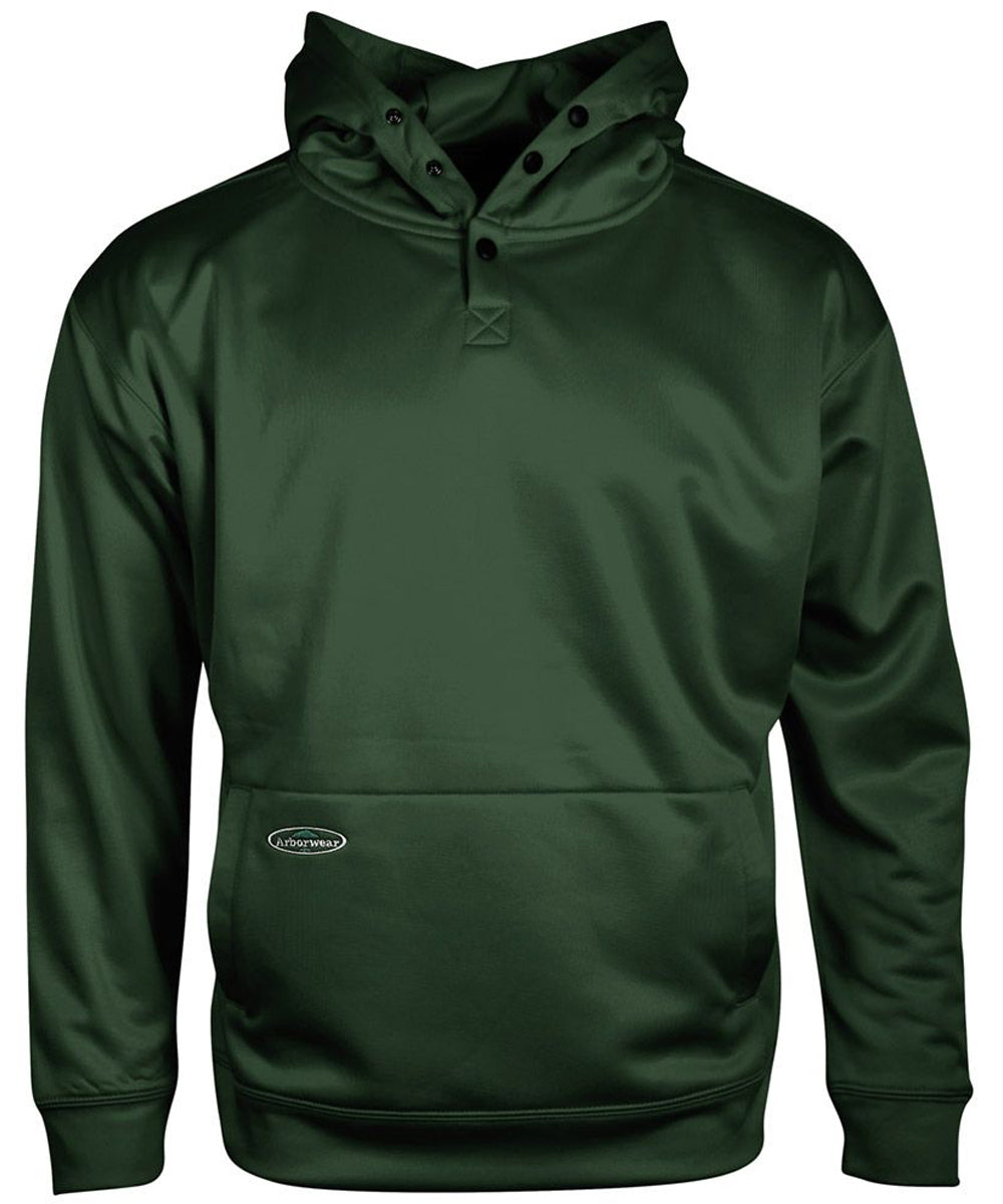 Tech Single Thick Pullover Sweatshirt in Forest Green color from the front view