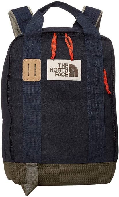 The North Face Tote Pack Backpack Aviator Navy Light Heather New Taupe Green
