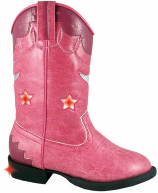 Toddler Smoky Mountain Austin Lights Boot in Pink