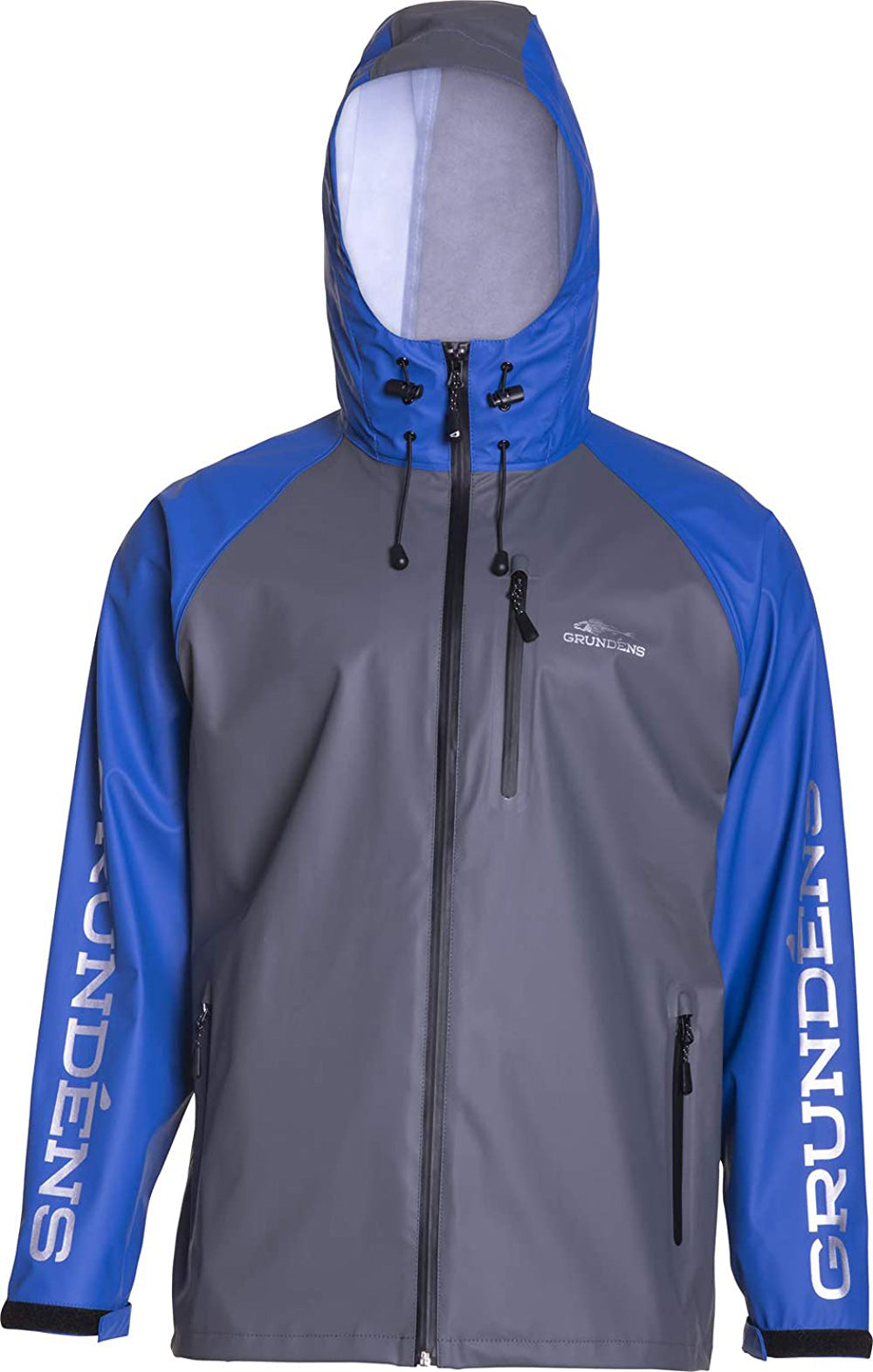 Tourney Jacket in Ocean Blue color from the front view