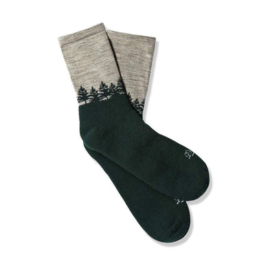 Danner Unisex Hike Midweight Merino 3/4 Crew Hiking Sock in Charcoal/Green from the side