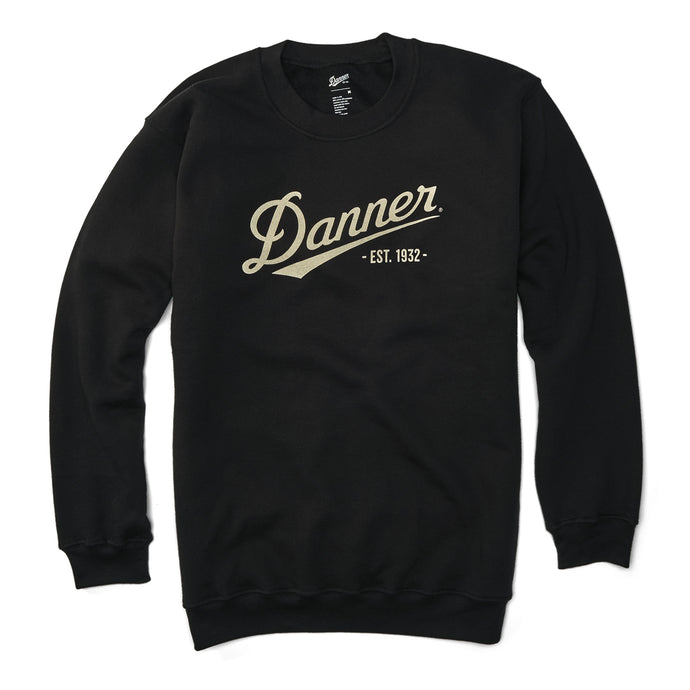 Danner Unisex Logo Sweatshirt in Black from the side
