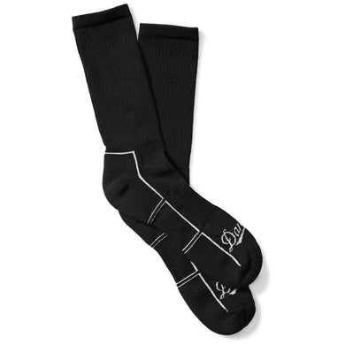 Danner Unisex Uniform Lightweight Synthetic Crew Uniform Sock in Black from the side