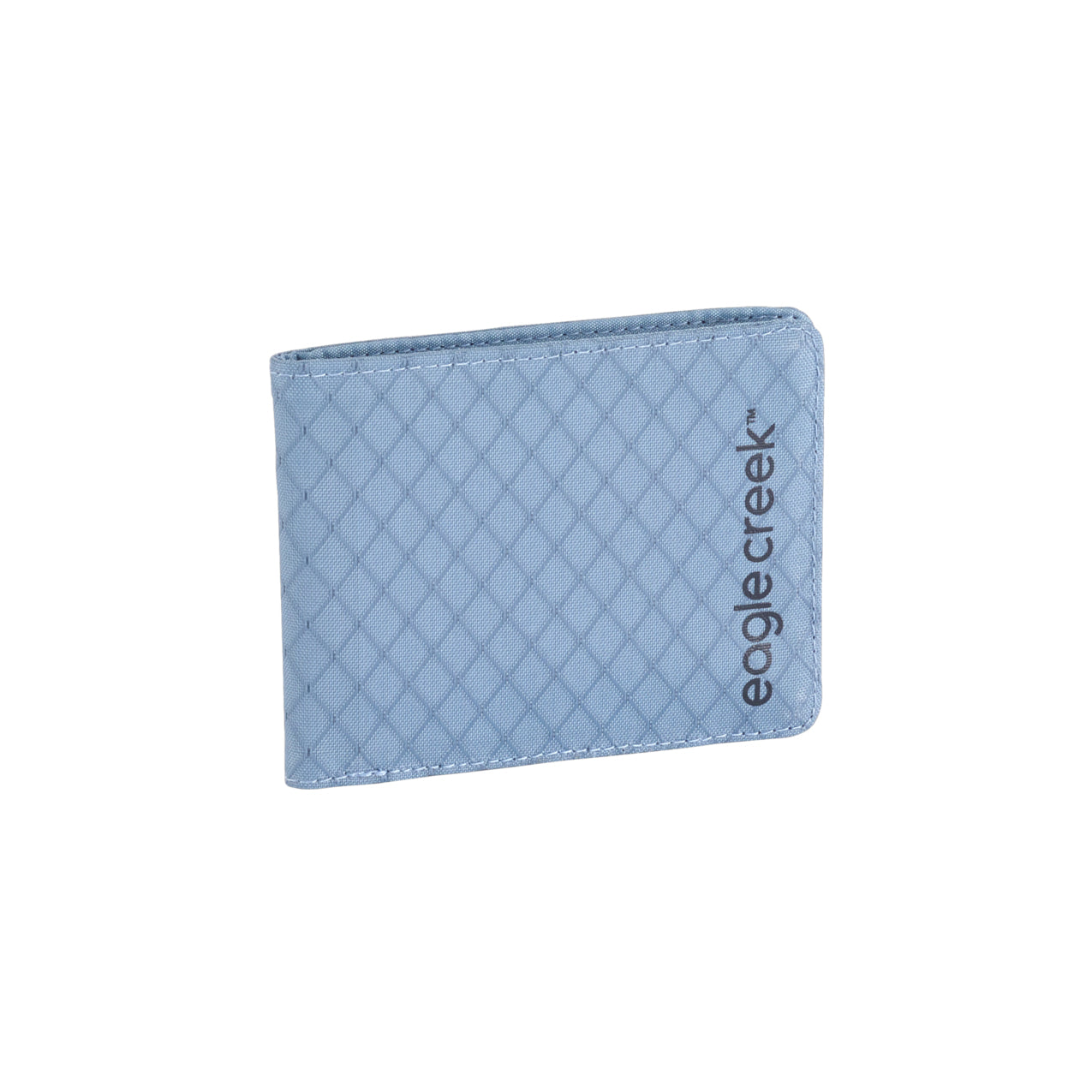 Unisex Eagle Creek RFID Bi-Fold Wallet in Arctic Blue from the front