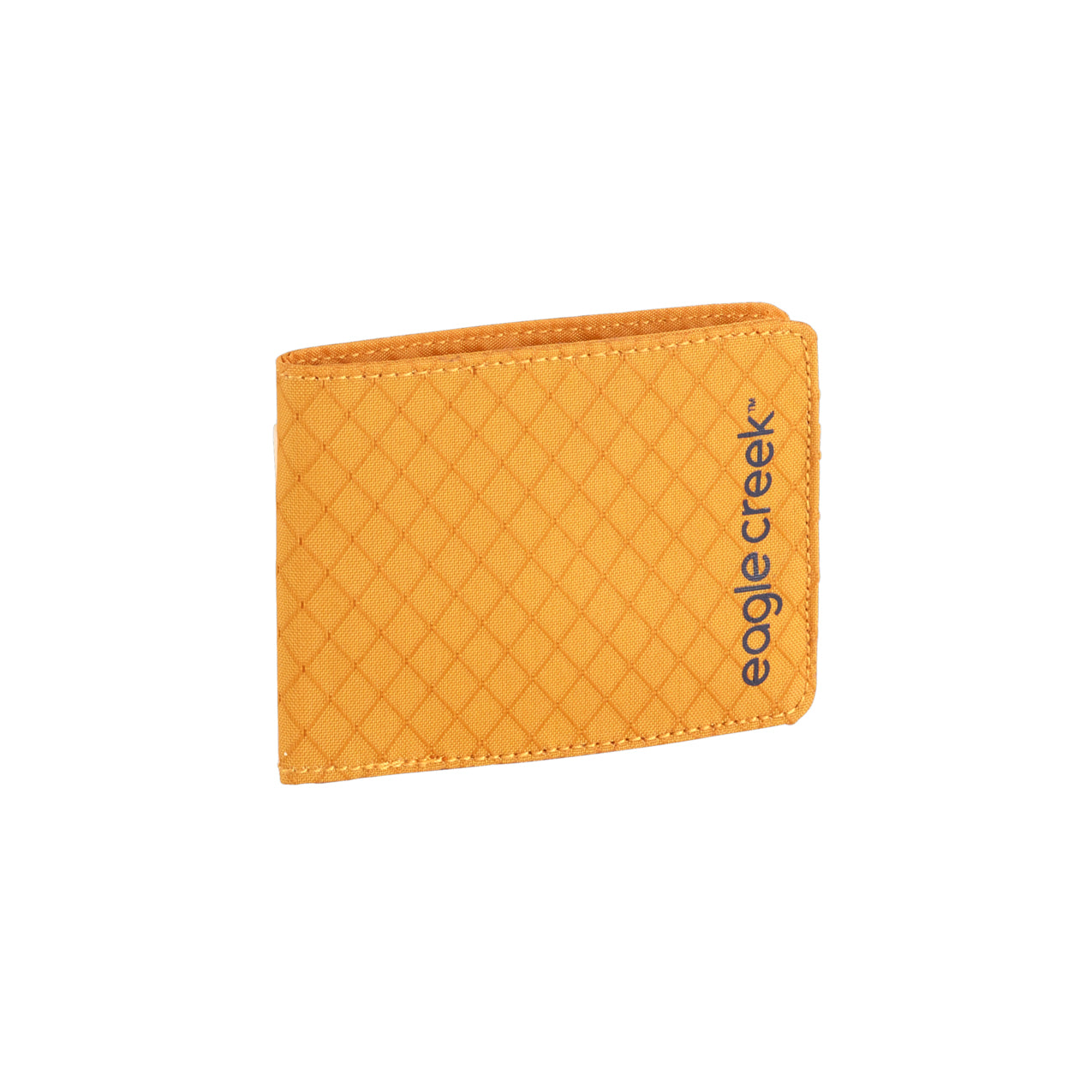 Unisex Eagle Creek RFID Bi-Fold Wallet in Sahara Yellow from the front