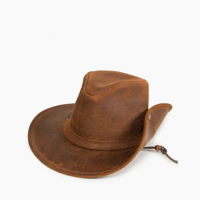 Unisex Minnetonka Aussie Hat Brown in Brown