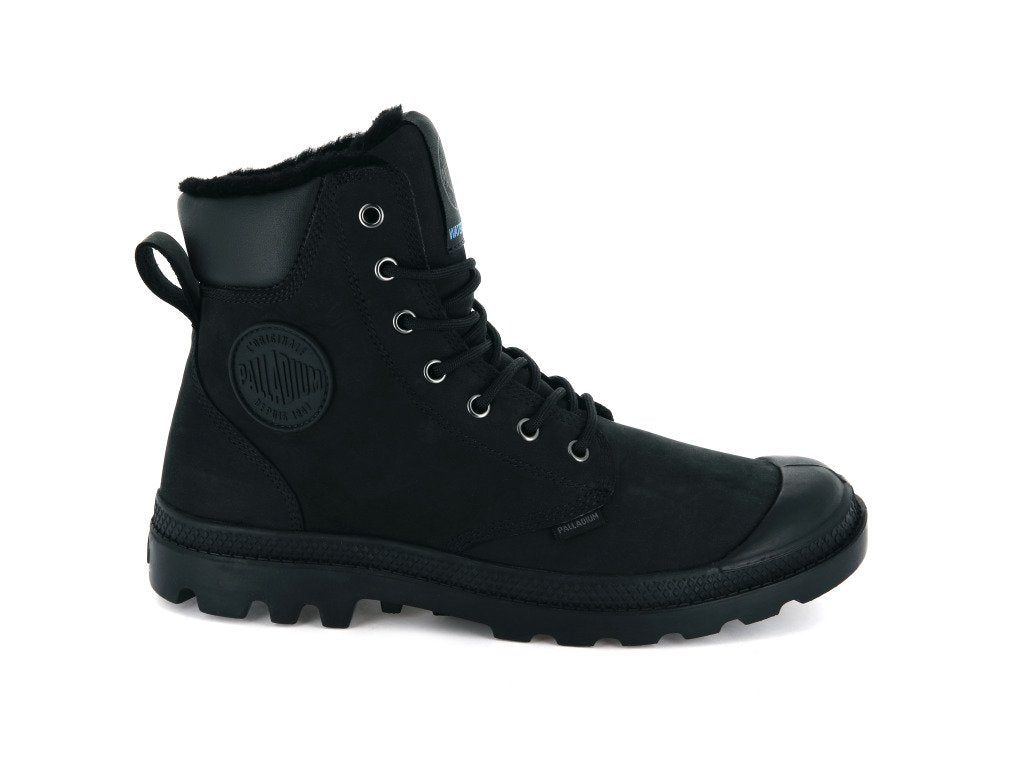 Unisex Palladium Pampa Sport Cuff Wps Boot In Black/Black