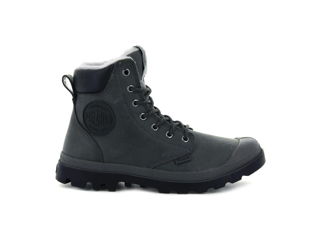 Unisex Palladium Pampa Sport Cuff Wps Boot In Dark Gull Gray