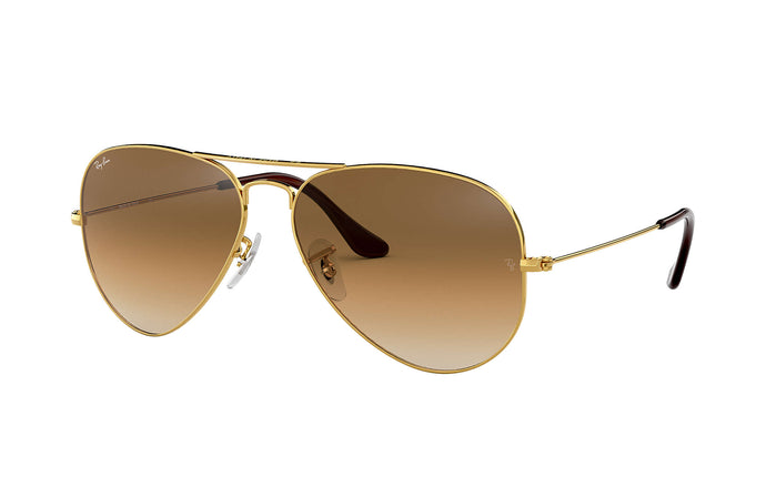 Unisex Aviator Mirror Sunglasses in Arista/Clear Gradient Brown from the front view