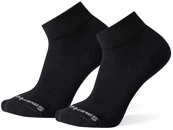 Unisex Smartwool Athletic Light Elite Mini 2-Pack Sock in Black from the side