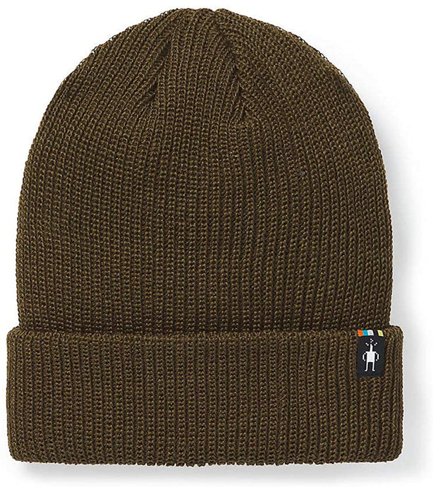 Unisex Smartwool Cantar Watchcap in Military Olive from the front