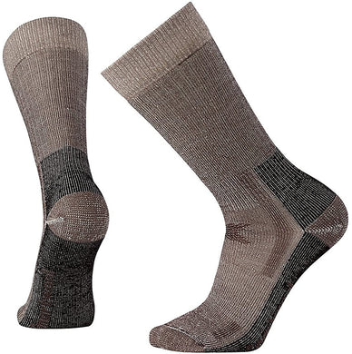 Unisex Smartwool Hunting Heavy Crew Socks in Chestnut from the front view