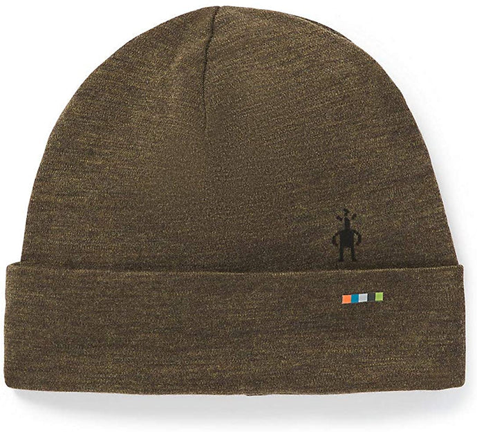 Unisex Smartwool Merino 250 Cuffed Beanie Military Olive Heather from the bottom