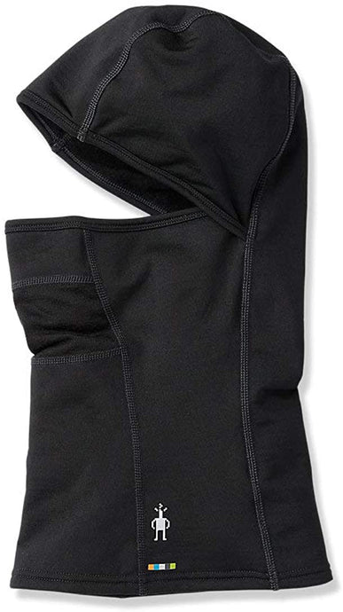 Unisex Smartwool Merino Sport Fleece Hinged Balaclava in Black from the side