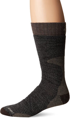 Unisex Smartwool PhD Hunting Heavy Crew Socks in Black from the front view