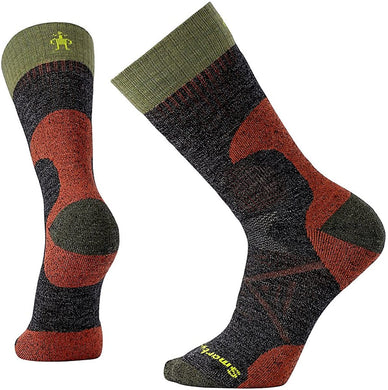 Unisex Smartwool PhD Hunting Medium Crew Socks in Black from the front view