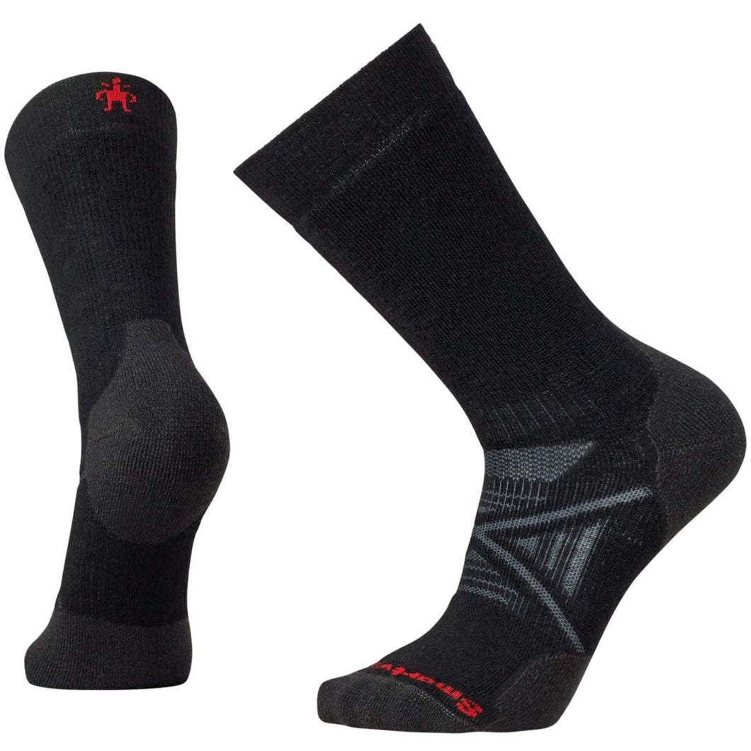 Unisex Smartwool PhD Nordic Medium Socks in Black from the side view