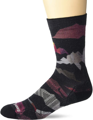 Unisex Smartwool PhD Outdoor Light Mountain Camo Print Crew in Black
