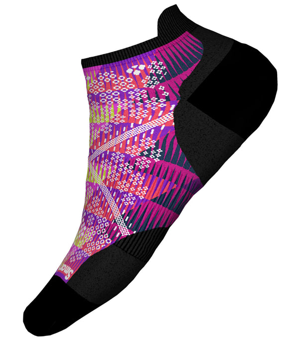 Unisex Smartwool PhD Run Light Elite Chevron Print Micro Sock in Watermelon