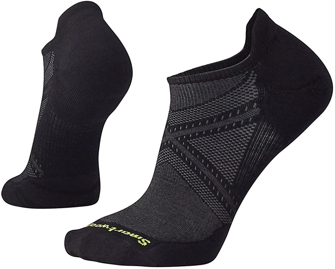 Unisex Smartwool PhD Run Light Elite Micro Sock in Black from the side