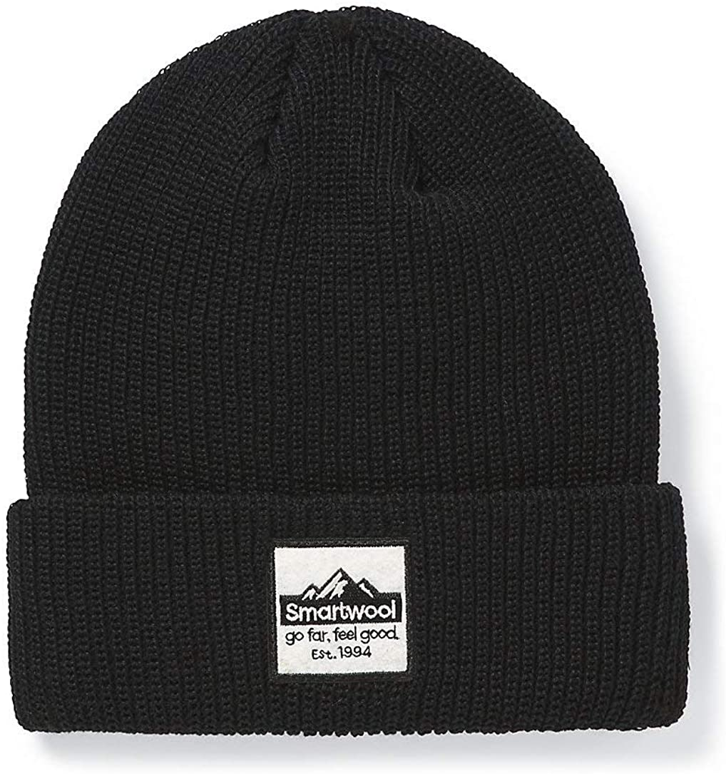 Unisex Smartwool Smartwool Logo Beanie Black in front view