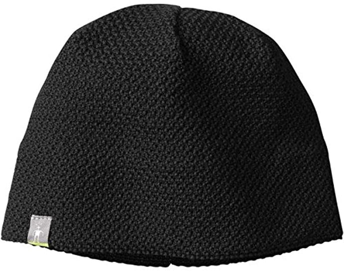 Unisex Smartwool Textured Lid Beanie in Black from the front