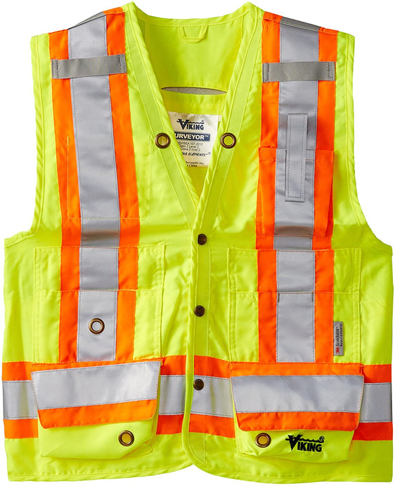Unisex Viking Surveyor's Safety Vest in Green