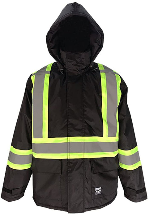 Men's Viking Open Road Hi-Vis Insulated 150D Jacket in Black color from the front