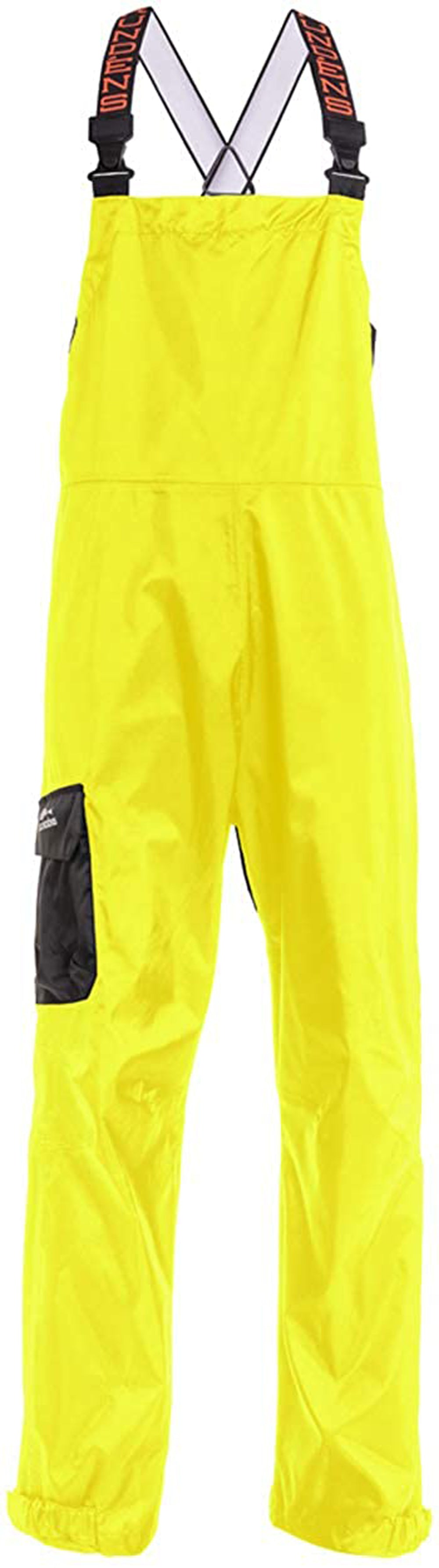 Weather Watch Bib in Hi Vis Yellow color from the front view