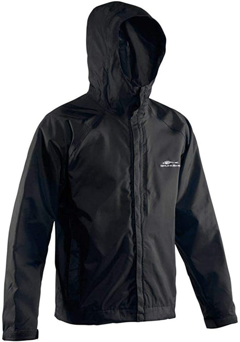 Weather Watch Jacket in Black color from the front view