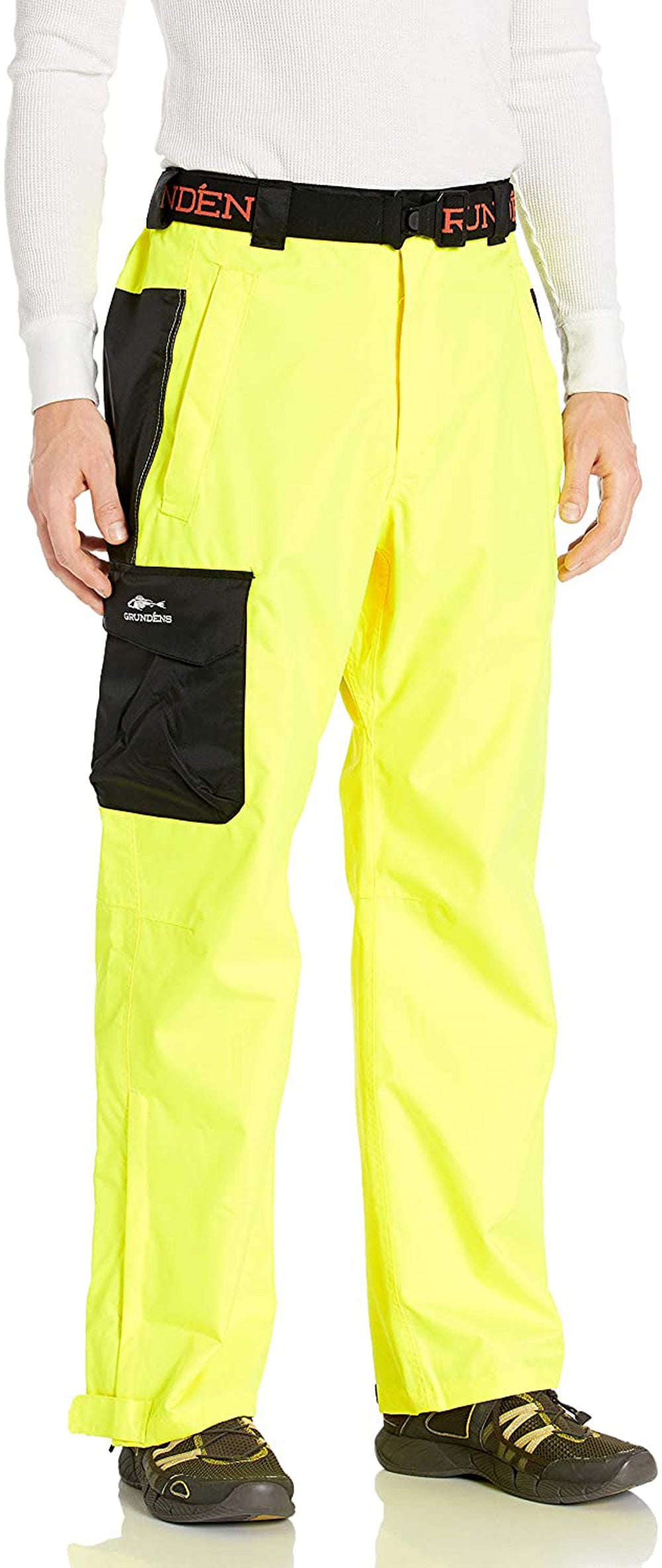 Weather Watch Pant in Hi Vis Yellow color from the front view