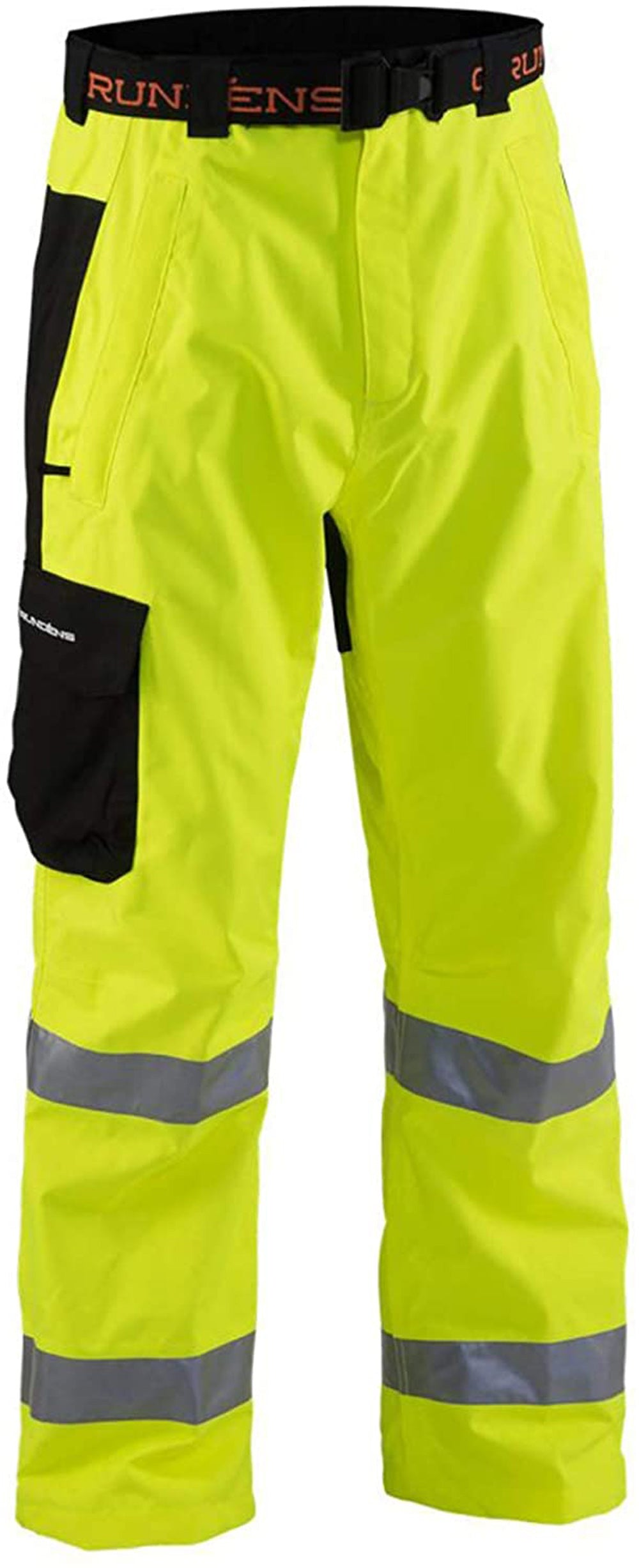 Weather Watch Pant in Reflective Yellow color from the front view