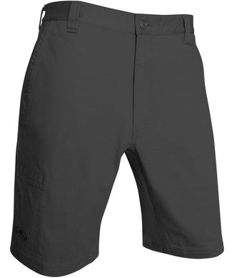 Willow Flex Shorts in Coal color from the front view