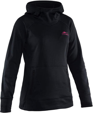 Women's Maris Hoodie in Black color from the front view
