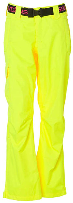 Women's Weather Watch Pant in Hi Vis Yellow color from the front view