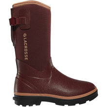"Load image into Gallery viewer, LaCrosse Women's Alpha Range 12"" 5.0mm Waterproof Outdoor Boot in Brick Red from the side"