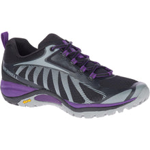 Load image into Gallery viewer, Merrell Women's Siren Edge 3 Hiking Shoe in Black/Acai from the side