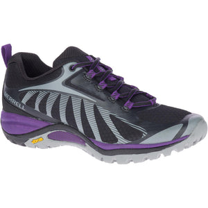 Merrell Women's Siren Edge 3 Hiking Shoe in Black/Acai from the side