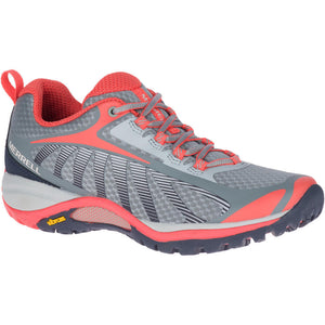 Merrell Women's Siren Edge 3 Hiking Shoe in Monument/Coral from the side