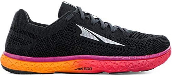 Altra Women's Escalante Racer Road Running Shoe in Black/Orange from the side