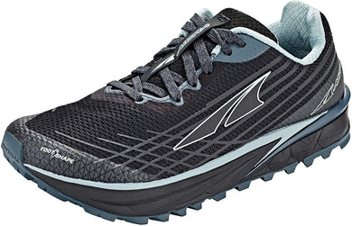 Altra Women's TIMP 2 Trail Running Shoe in Black/Gray from the side