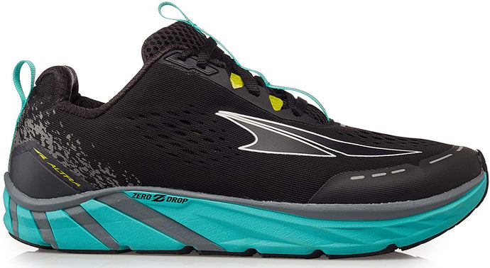 Women's Altra Torin 4 Road Running Shoe in Black/Teal from the side