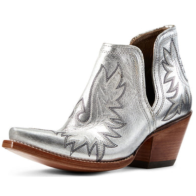 Women's Ariat Dixon Western Boot in Silver Metallic