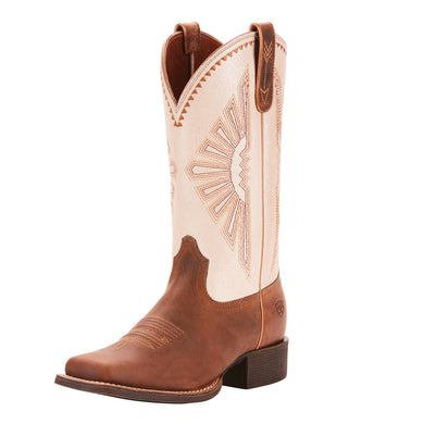 Women's Ariat Round Up Rio Western Boot in Distressed Brown